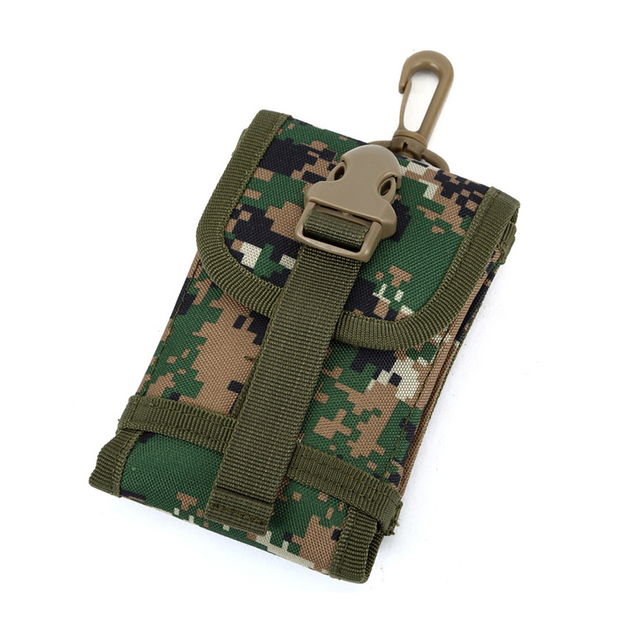 Large Screen Mobile Phone Bag for 5.5 Inch Nylon Leisure Travel Accessories Hook Package Camouflage Pockets Men Women Waist Bags