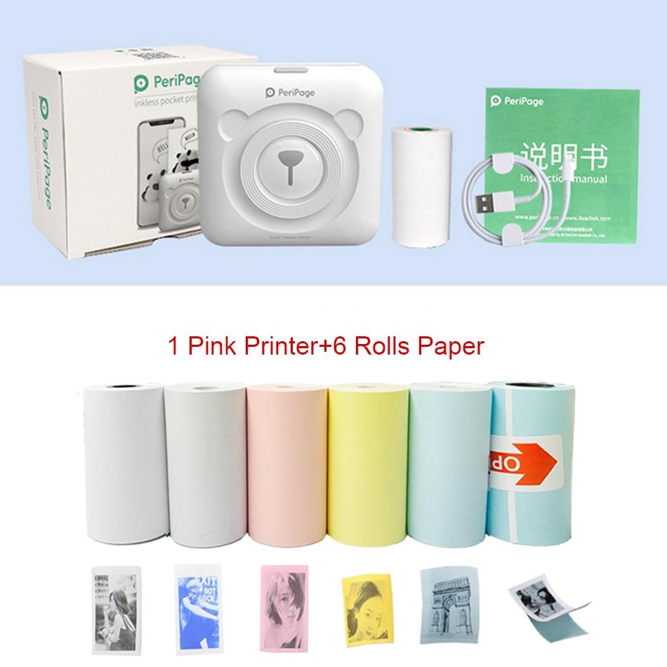 GZM5804 A6 péripage Mini Portable Bluetooth sans fil papier Photo imprimante poche impression thermique USB connexion Impresoras Fotos