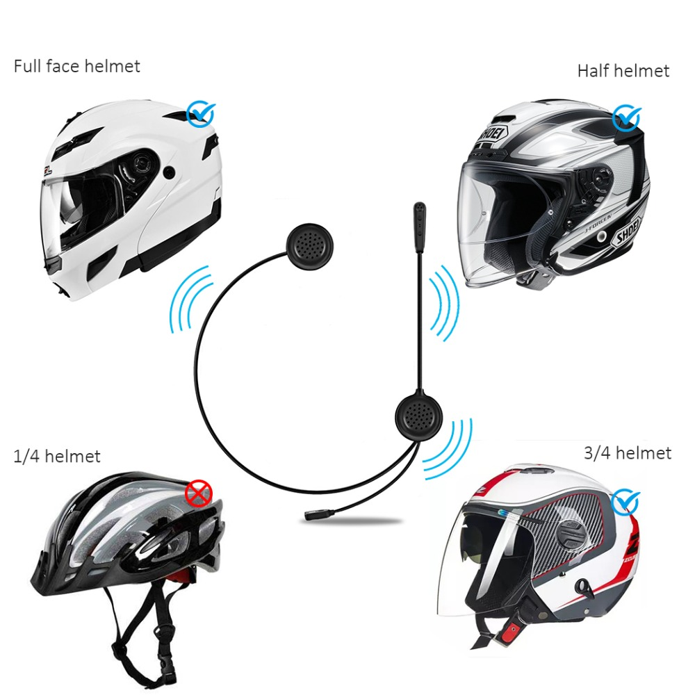 US $23 69 21% OFF|EJEAS E1 Motorcycle Helmet Bluetooth Headset BT 4 1  Stereo Music Headphones HD Sound Phone Call Hand Free Earphone-in Helmet
