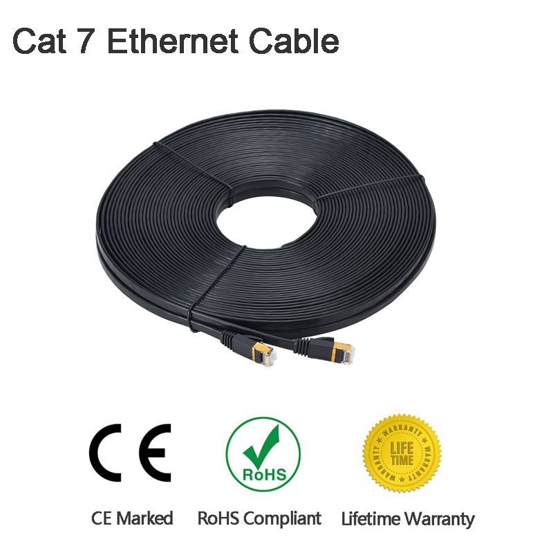 Cat7 Ethernet Cable High Speed Lan Cable SSTP RJ45 Flat Lan Network Cable 1M/2M/3M/6M/8M/15M/30M for PC Laptop Cable Ethernet rj45 8p8c male to male high speed cat6a flat lan network cable purple 1485cm