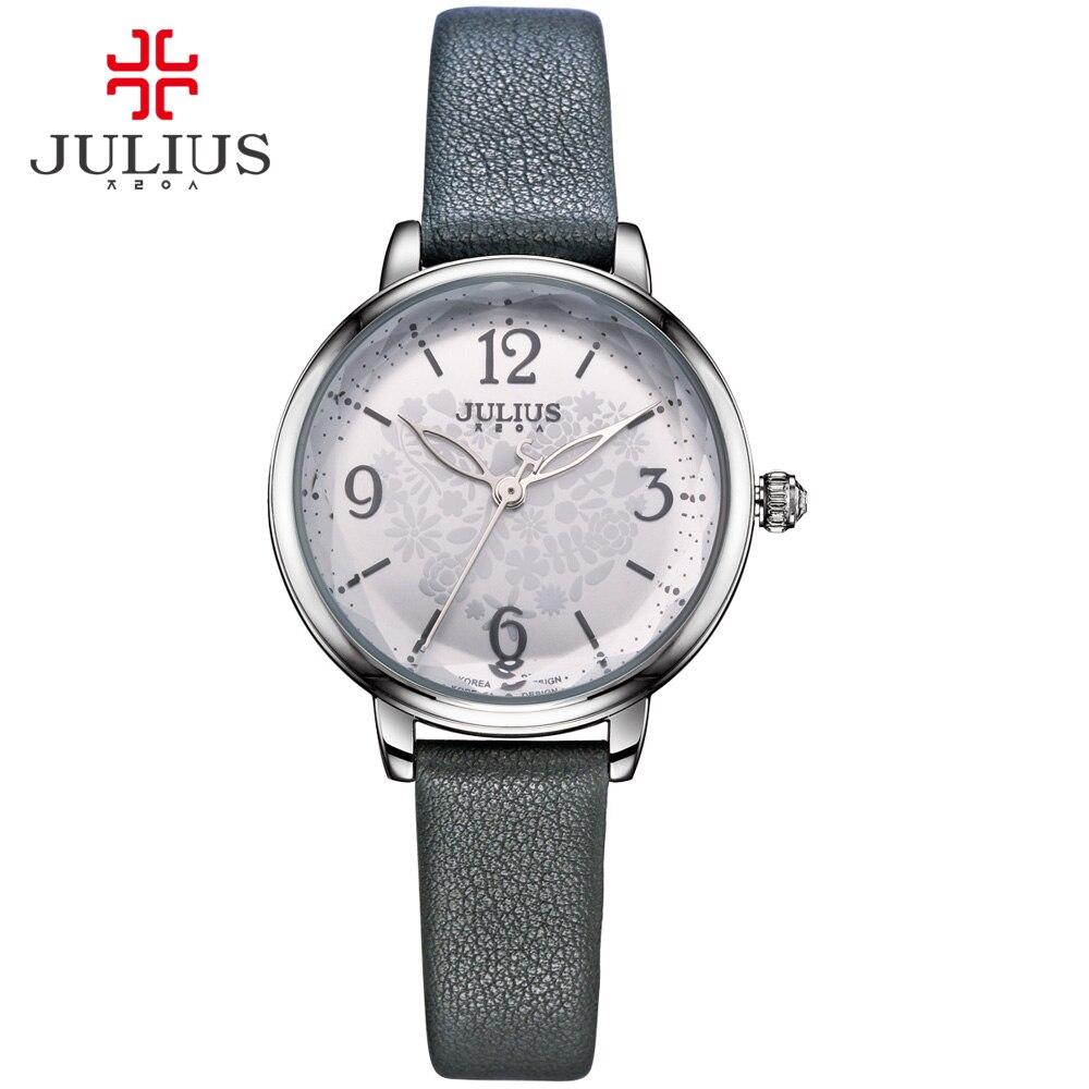 JULIUS 로고 원래 브랜드 시계 캐주얼 여성용 드레스 손목 시계 실버 블랙 골드 Relogios Feminino Reloj Orologi 도나 JA - 929