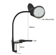 New 3X 10X Large Lens Magnifying LED Table Clip-on Lamp Magnifier Light 5W Clamp Magnifier for Reading, Craft, Close Work led magnifier light 5w magnifier 3x 10x large lens magnifying light for reading embroidering inspection clip on table lamp