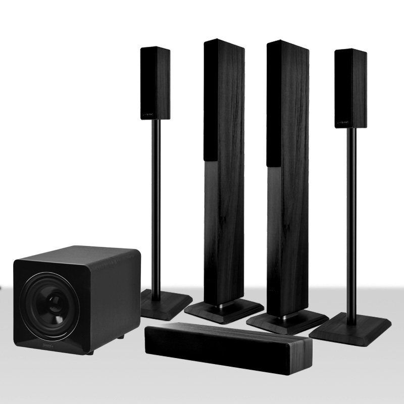 808 Wood 5.1 wireless home theater audio package TV speakers ...