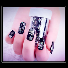Mtssii Starry Sliders for Nails Snowflake Stickers for Nails