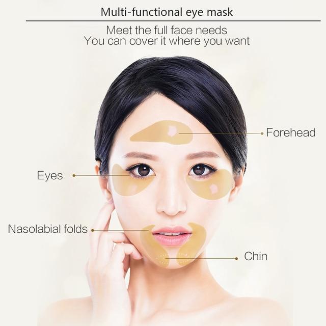 24K Golden Eye Mask Anti Wrinkle Ageless Dark Circles Moisturizing Hyaluronic Acid Collagen Whey Protein Gel Eye Patch Face Care Facial Care