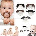 2016 Lovely beard Silicone Baby Pacifier Dummy Infants Soother Joke Prank Toddler Pacy Orthodontic Nipples Teether Pacifier Clip