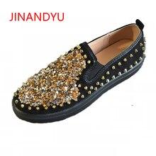 Big Size 44 Womens Flat Casual Platform Shoes Unisex Rivets Sneakers Women Paillette Spell Ladies Flats Loafers