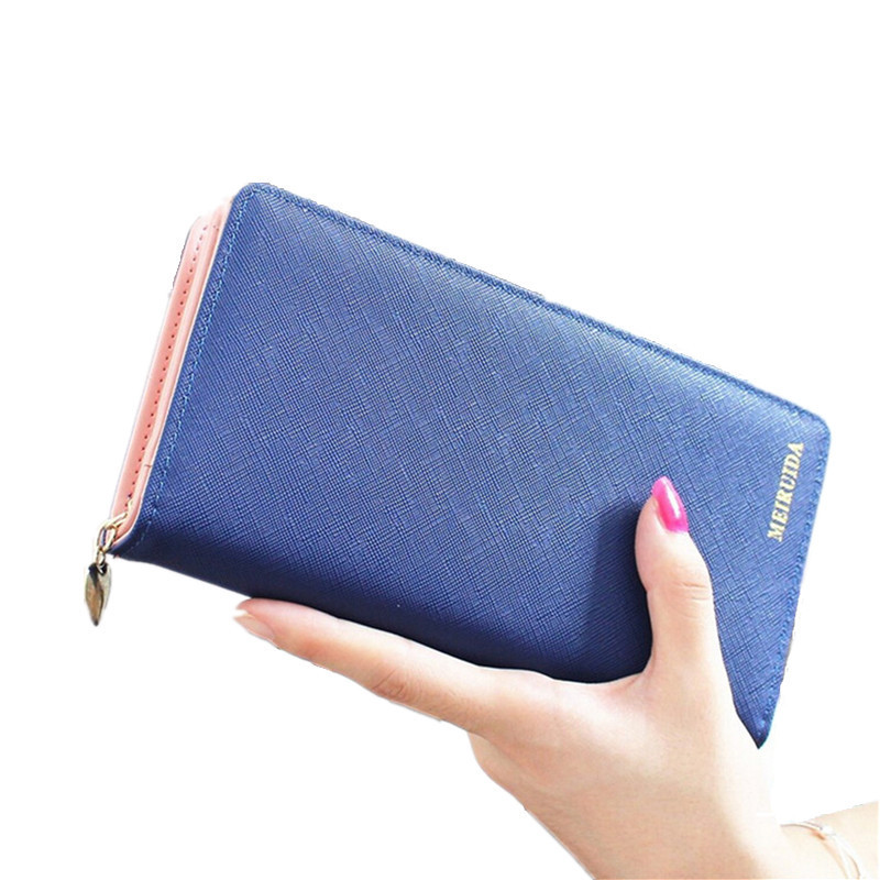 2017 Women Ladies Fashion Long Wallets Cards Holders Candy PU Leather Coin Purses Clutch Handbag High Quality Free Shipping P407 chinese style genuine leather women clutch wallet fashion pattern cards holders brand womens wallets and purses free shipping