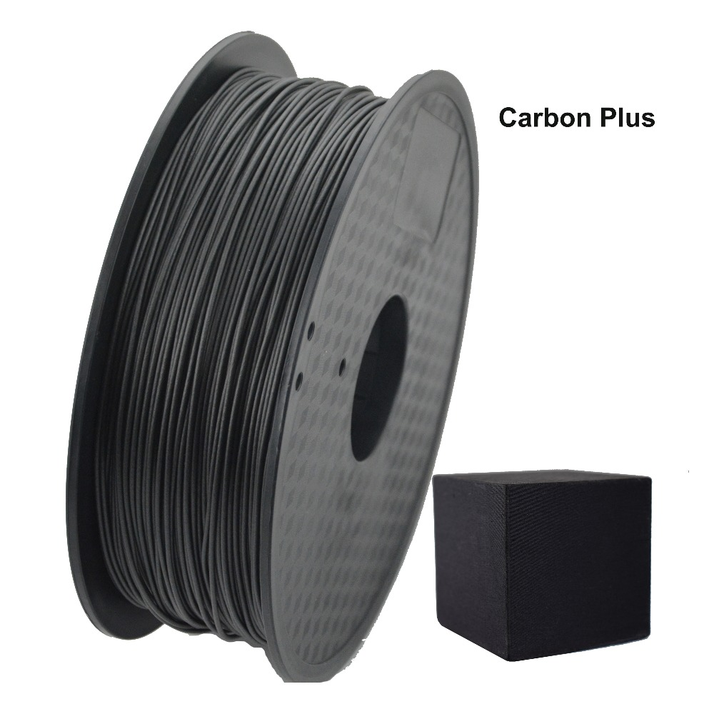 1.75mm Carbon plus PLA filament for desktop fdm 3D printer 3d pen with 0.02mm tolerance and no bubble flsun 3d printer big pulley kossel 3d printer with one roll filament sd card fast shipping