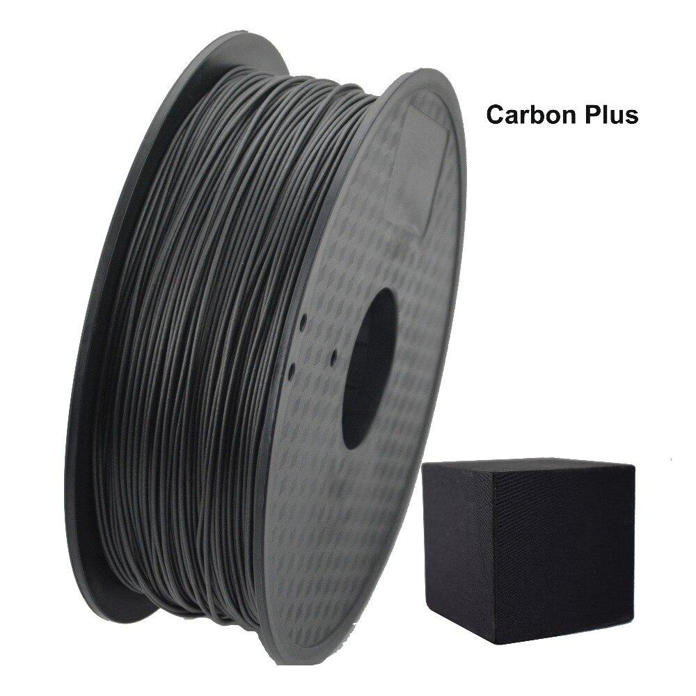 Filament de carbone de 1.75mm plus PLA pour le stylo 3D d'imprimante de bureau de fdm 3d avec la tolérance de 0.02mm et aucune bulle