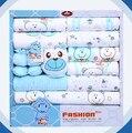 100% хлопок новорожденного одежды младенца лета подарочный бокс-сет детские продукты новорожденный набор 18 шт. для 0-12 месяцев ребенка