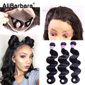 360 Lace Frontal With 3 Bundles Malaysian Body wave With Closure 360 Lace Frontal Natural Hairline Malaysian Body wave