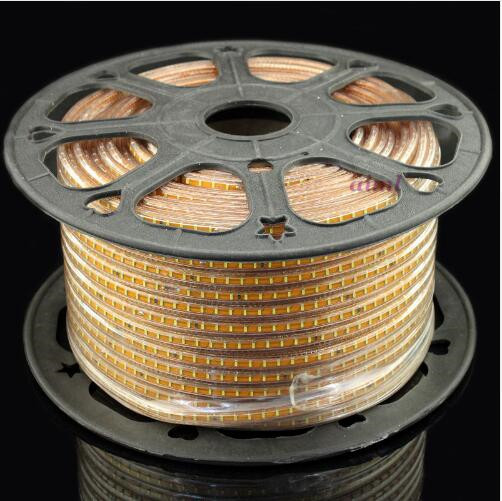 Светодиодная лента с узором, 100 метров, 3014 светодиодов, 220 В, 120 светодиодов, IP67 водонепроницаемый уличный садовый светильник, белый/теплый бе