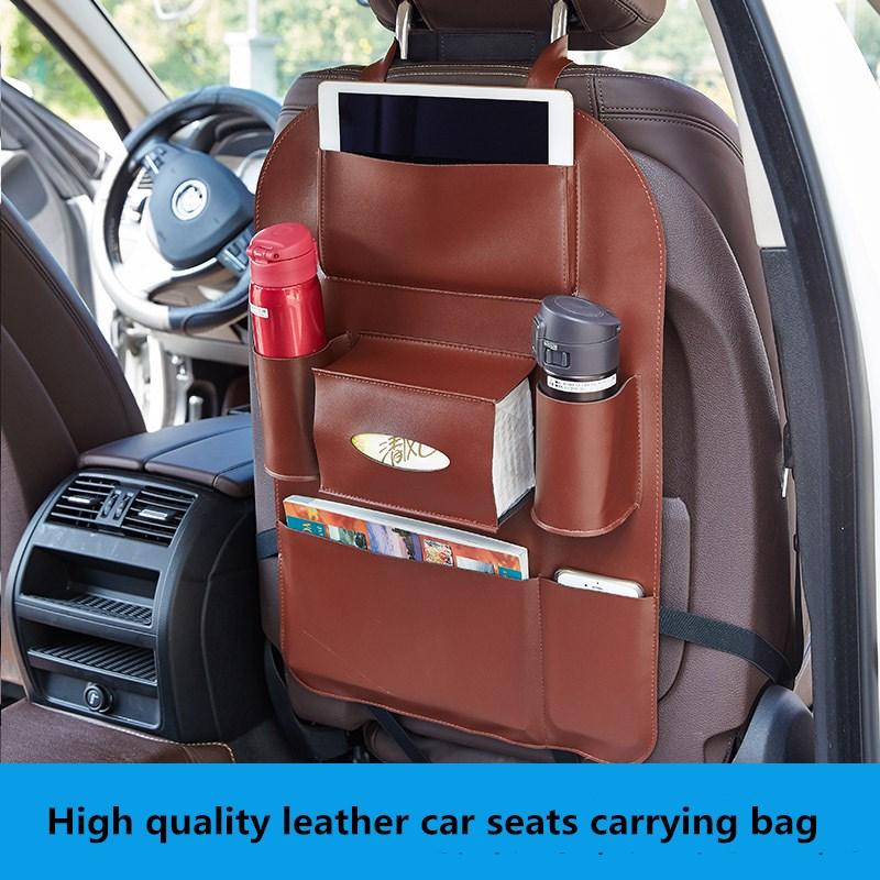 High quality leather car backseat <font><b>organizer</b></font> pockets <font><b>multi-functional</b></font> portable storage bag <font><b>auto</b></font> <font><b>organizers</b></font> black Organizador