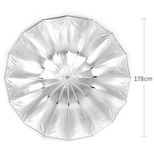 """Image 3 - Godox Studio Photogrphy 70 """"/178 cm argent noir éclairage réfléchissant lumière parapluie"""