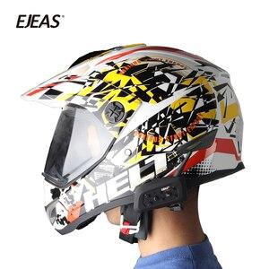 Image 3 - 2 stücke EJEAS V6 PRO Bluetooth Motorrad Intercom Helm Headset 6 Fahrer 1200m Kommunikator Sprech + Metall Schiene