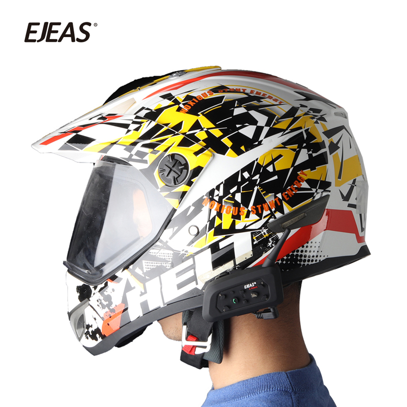 Image 3 - 2pcs EJEAS V6 PRO Bluetooth Motorcycle Intercom Helmet Headset 6 