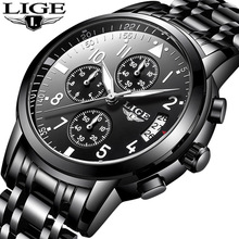 2018 LIGE Men's Watches Fashion Business Quartz Clock Men Top Brand Luxury Male Sport Watch Waterproof Wristwatch Relojes Hombre цена в Москве и Питере