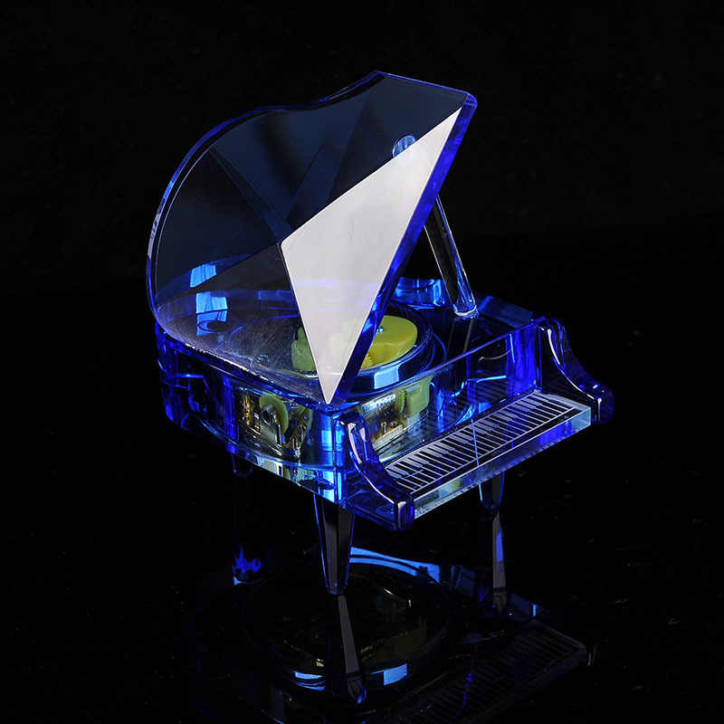 Detail Feedback Questions about Crystal Piano Music Box