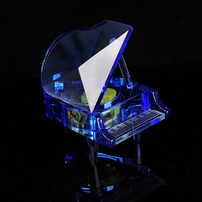 Crystal Piano Music Box Practical Romantic Music Box Creative Birthday Gift For Home Decor Crafts