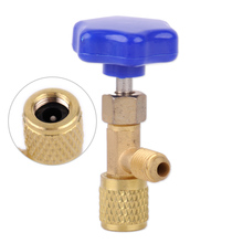 DWCX New Durable Car Brass Plastic 1/4 SAE Dispensing Valve Refrigerant Can Tap Bottle Opener Fit For R22 R134a R410A Gas