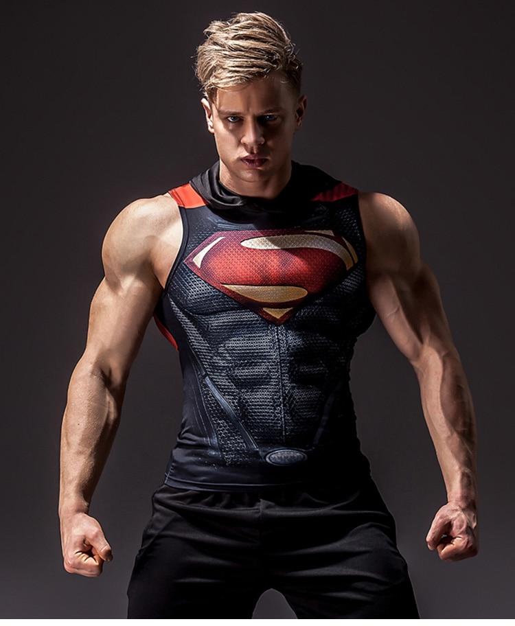 Men's Superhero 3D Printed Tank Top 14