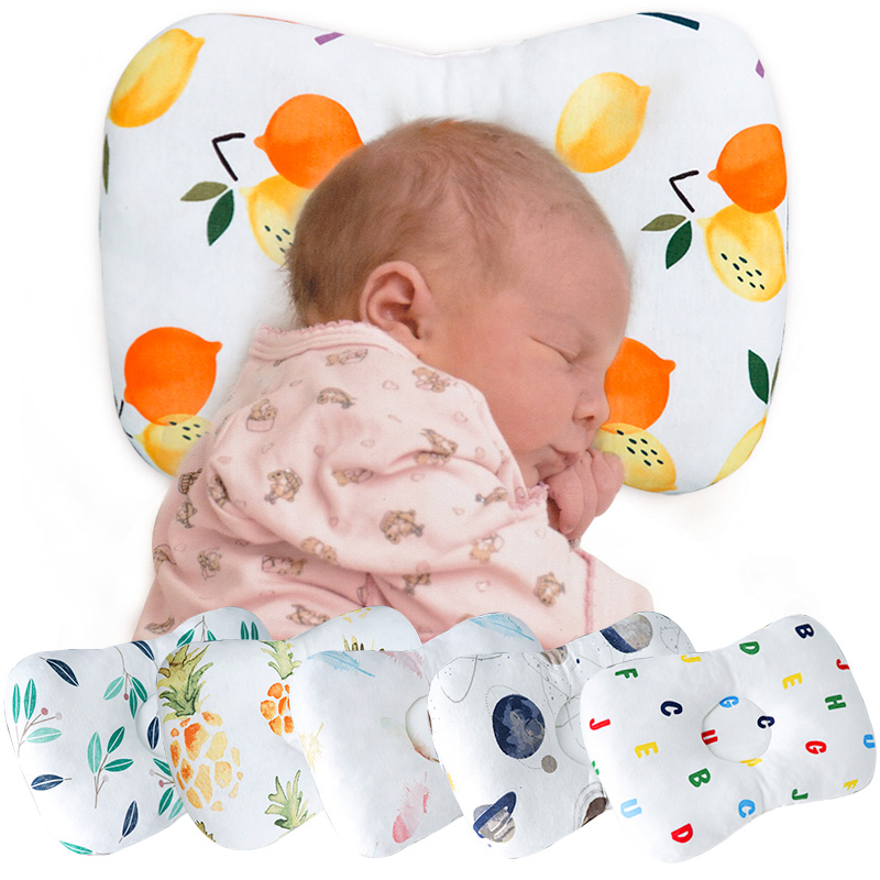 Us 1 98 50 Off Muslinlife Infants Baby Head Support Pillow Baby Neck Cotton Shaping Pillow Soft Baby Kids Pillow Prevent Flat Head Dropship In