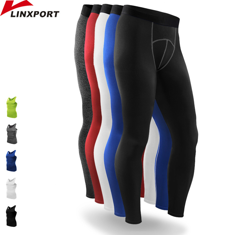 Mens Compression Pants Sport Laufhose Basketball Gym Hose Bodybuilding Jogger Jogging Fitness Dünne Gamaschen-Hose