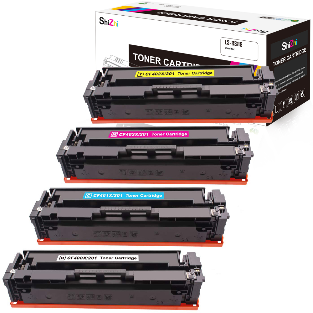 Compatible 201A 2 Pack Cyan CF401A Toner Cartridge Replacement for HP Color Laserjet Pro M252dw M252n MFP M277n M277dw M277c6 M274n Laser Printer Toner Cartridge