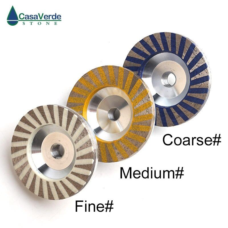 Livraison gratuite 3 pièces/ensemble diamant turbo résine remplissage aluminium corps coupe roues 4 pouces pour la pierre de meulage - 6
