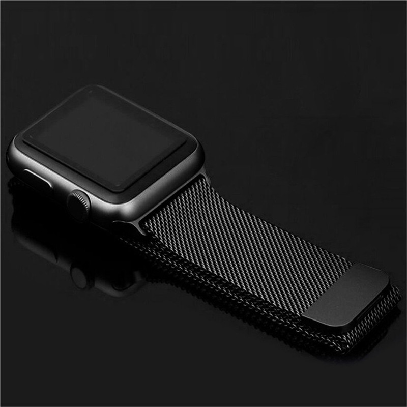 ASHEI Strap for Apple Watch Band Milanese Loop Stainless Steel Mesh with Adjustable Magnetic Closure Strap for iWatch 3 2 1 Nike 38mm 42mm strap for apple watch stainless steel mesh magnetic replacement wrist band with protective case for iwatch