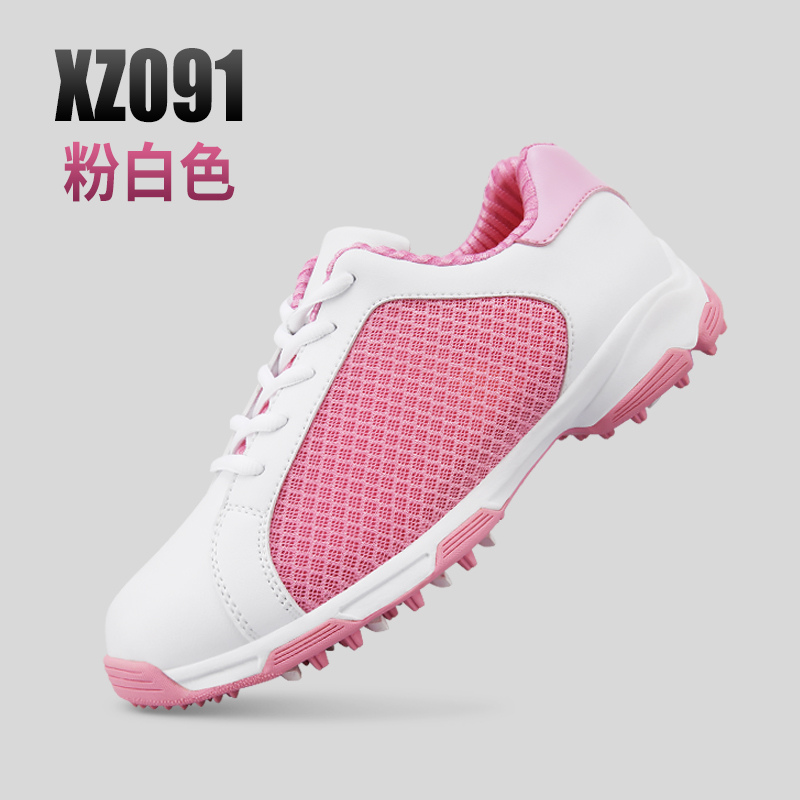 2018 Summer PGM Golf Sneakers Women's Anti-skid Patent Shoe Spike Non-slip Women Golf Breathable Outdoor Sport Ladies Mesh Shoes new arrival women golf shoes flat heels shoes non slip ladies golf shoes outdoor breathable sneakers red