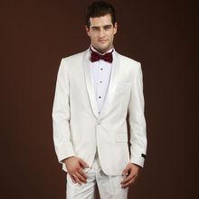 mens groom tuxedo for wedding formal wear white custom made suits 2017 one button dress men