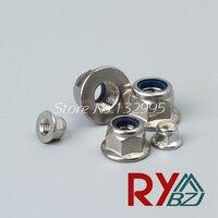 M8 50pcs Nylon Lock Nut Locking Nut Self Lock Nut Stainless Steel A2 Nylon Lock Nut