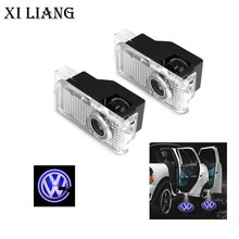 2 pcs/pair Car door light for VW PassatLED Welcome Light Projector Laser Logo Ghost 3D Shadow Projector Lamp free shippping(China)
