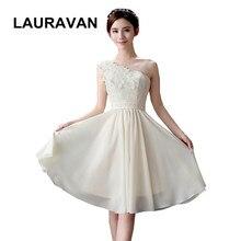 6981133adf3c4 Romantik elbise de suare suare zarif bir omuz şampanya renkli çiçek şifon mezuniyet  elbiseleri kısa için kadın elbisesi