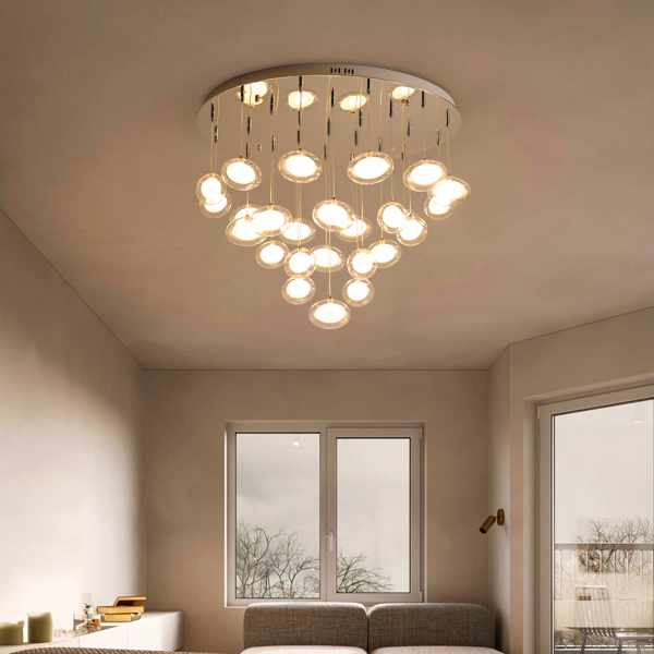 Modern simplicity LED chandelier ceiling Nordic glass ball hanging lights bedroom lighting fixtures living room pendant