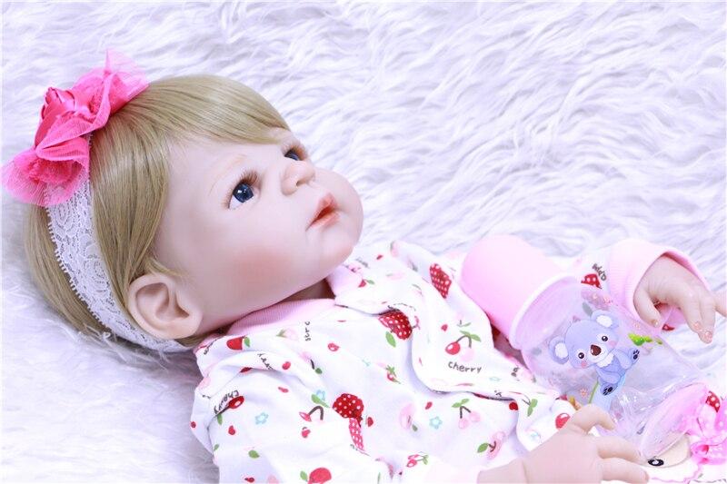de corpo inteiro macio silicone bebês meninas