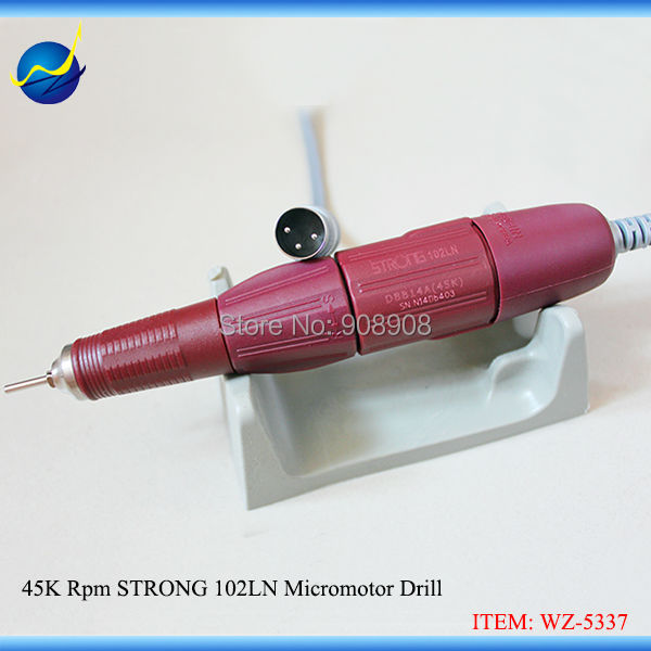 45K RPM Korea Micromotor Strong 102LN Drill Handpiece Original suit for Gem Nail Grinder Strong 206 N8 JC100A brush Control Box cardiofax gem ekg 9022 k