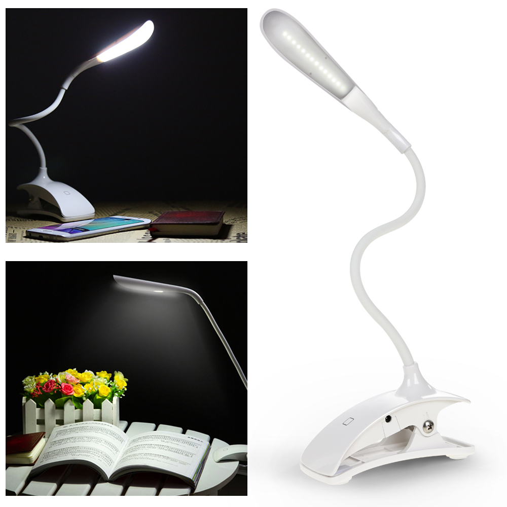 New Arrival Convenient Clip Lamp Touch Sensitive LED USB Rechargeable Dimmable Portable Table Lamp Eye-protection for Read Study humidifier air purifier rechargeable usb led table light eye protection table lamp touch reading desk lamp