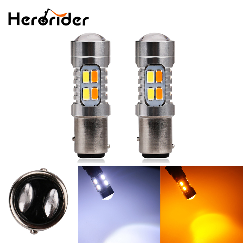 2pcs 20W Amber White P21/5W 1157 BAY15D 20 led 5630 SMD High Power Tail Brake Stop Bulbs Car Light Source Parking Lamp Auto Bulb