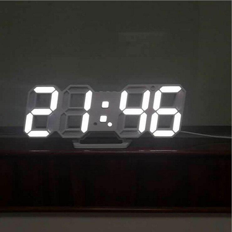 Wall Clocks Clocks Smart 3d Led Wall Clock Modern Digital Table Desktop Alarm Clock Nightlight Saat Wall Clock For Home Living Room Office 24 Or 12 Hour