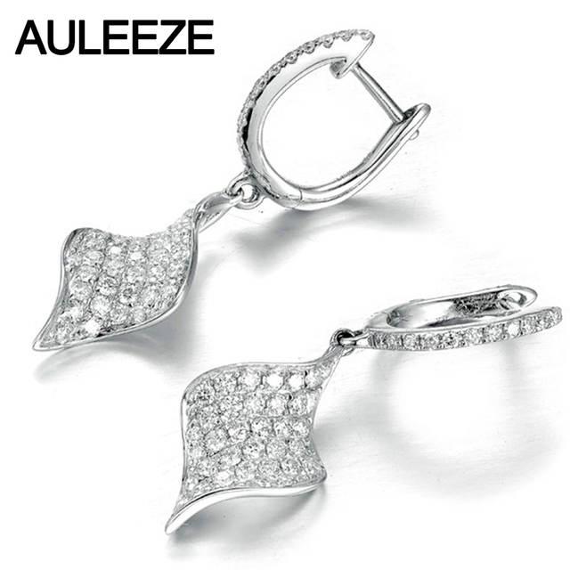 Us 723 0 Luxury Round Cut Moissanite Earrings Solid 14k White Gold 1 65cttw Lab Grown Diamond Drop 585 Fine Jewelry In