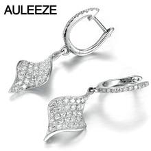 Luxury Round Cut Moissanite Earrings Solid 14K White Gold 1.65CTTW Lab Grown Diamond Drop Earrings Diamond 585 Gold Fine Jewelry