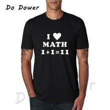 a4577b1daf4f Friend Gift I Love Math T-shirt Mens T Shirt Funny TShirt Geek Math Cool  Shirt Math Teacher Tops Tees Camisetas