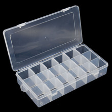 18 Slots Grid Hand Repair Tool Box Jewelry Screws Nuts Nails SMD Fishing Storage Case Holder Organizer Container Box Toolkit