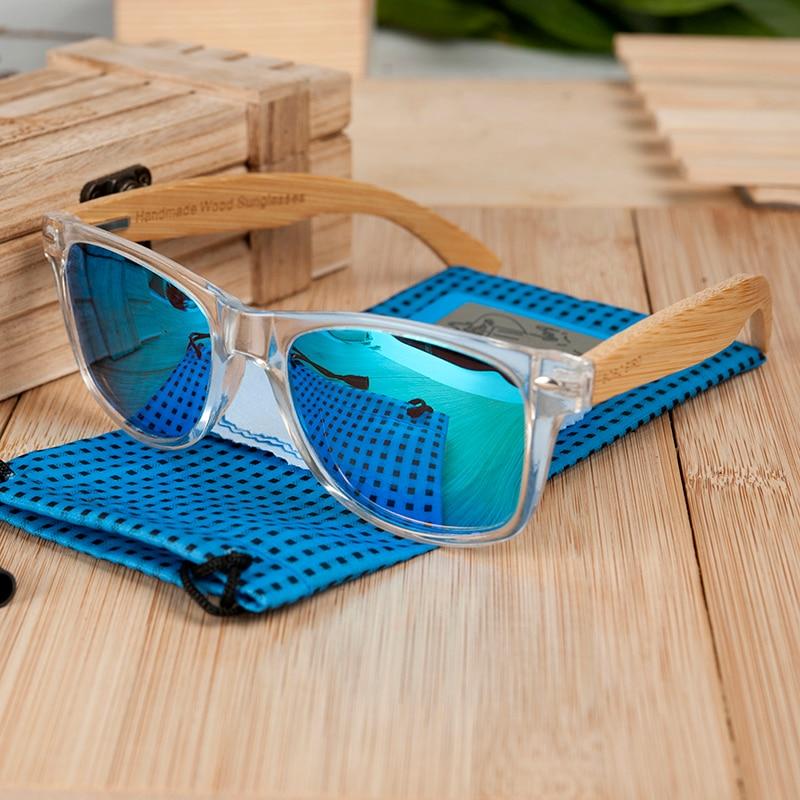 Unisex Square Polarized Wood Unisex Sunglass