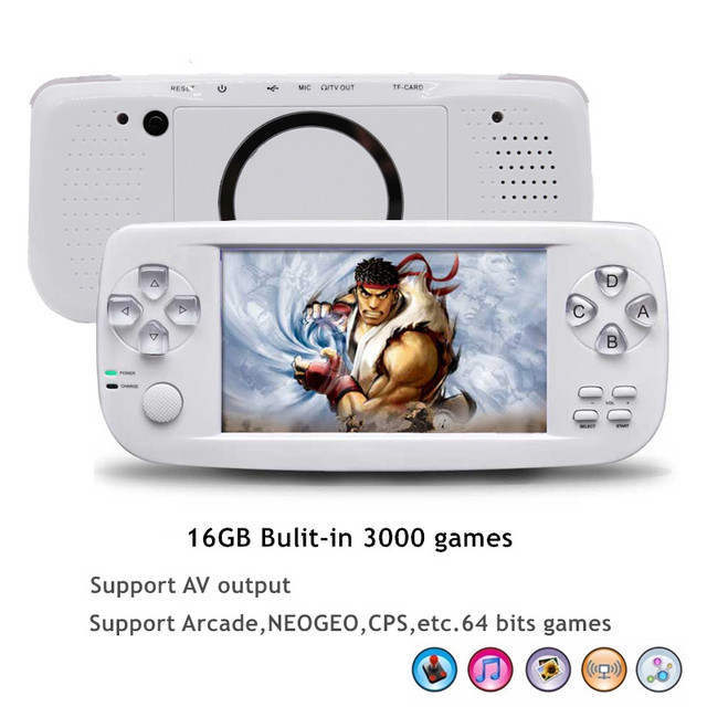 4.3 Inch PAP K3 Game Console For CP1/CP2/GBA/FC/NEO/GEO Format Portable HD 64 Bit Handheld Video Game Player Built-in 3000 Games