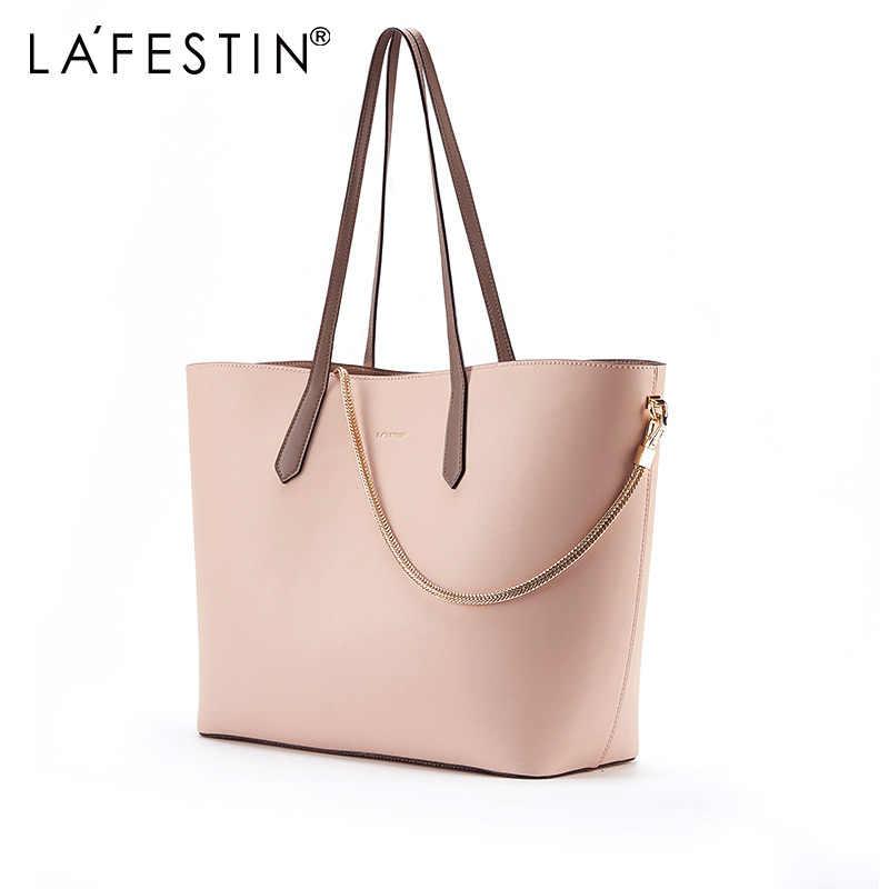 baea1bce8cd9 Detail Feedback Questions about LA FESTIN 2018 New Female Bag Simple large  capacity handbag fashion shoulder bags with Small clutch bag metal chain ...
