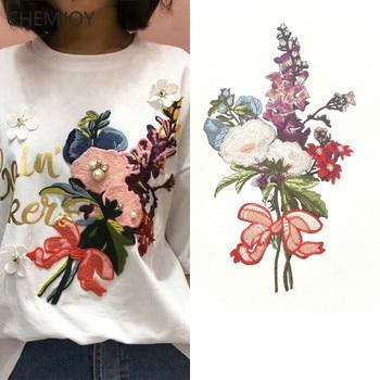 coser parches flores Appliques en Bordado perlas con DIY grandes wPIfgBBXn